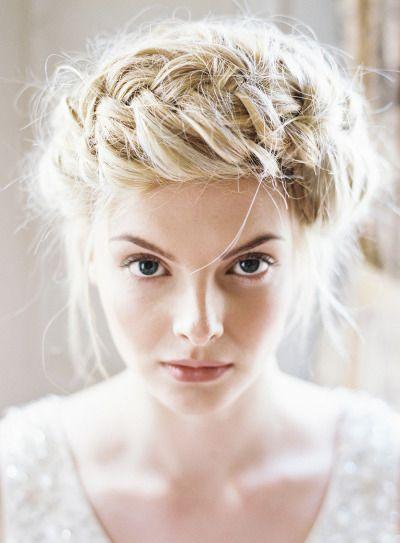 braids, braided updo, milkmaid braid, wedding hair
