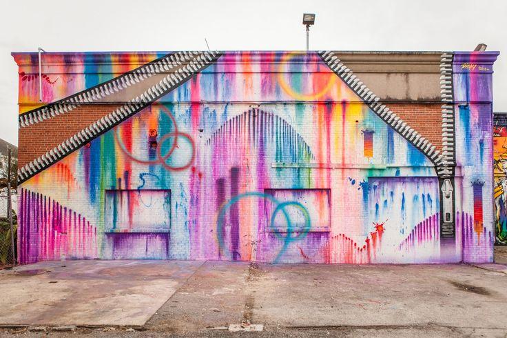 """""""Hue Mural Festival"""" in Houston, Texas."""