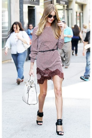 Rosie H.W., in Stella mac Cartney dress and Alexander Wang shoes