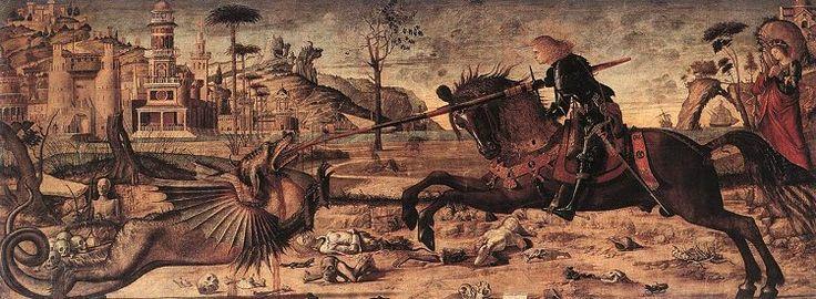 Vittore Carpaccio - San Giorgio e il drago, 1502, Scuola di San Giorgio degli Schiavoni, Venezia.
