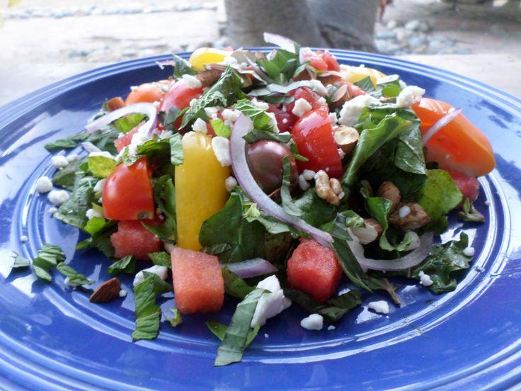 Arugula Watermelon Tomato Salad