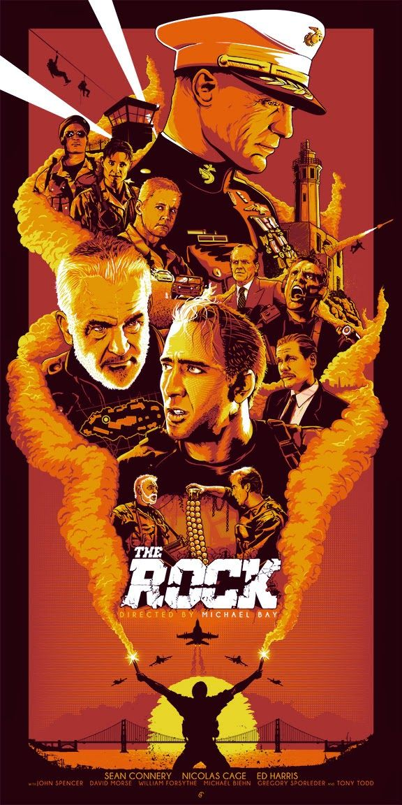 """The Rock"" Poster by Patrick Connan (via Inside the Rock Poster Frame)"