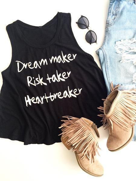 Dream Maker Risk Taker Racer Back
