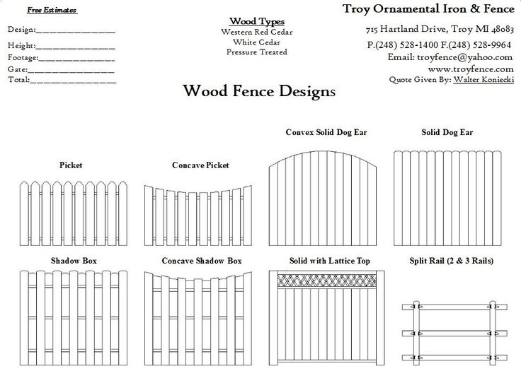 Wood Fence Drawings Fence Design Wood Fence Design