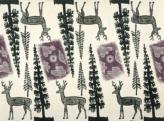 Edward Bawden Christmas Wrapping Paper 1960