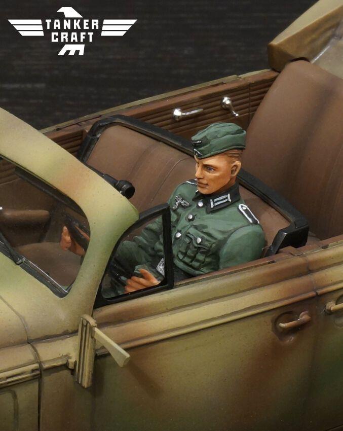 Tanker Craft 1//24 WWII German Staff Car Driver resin figure