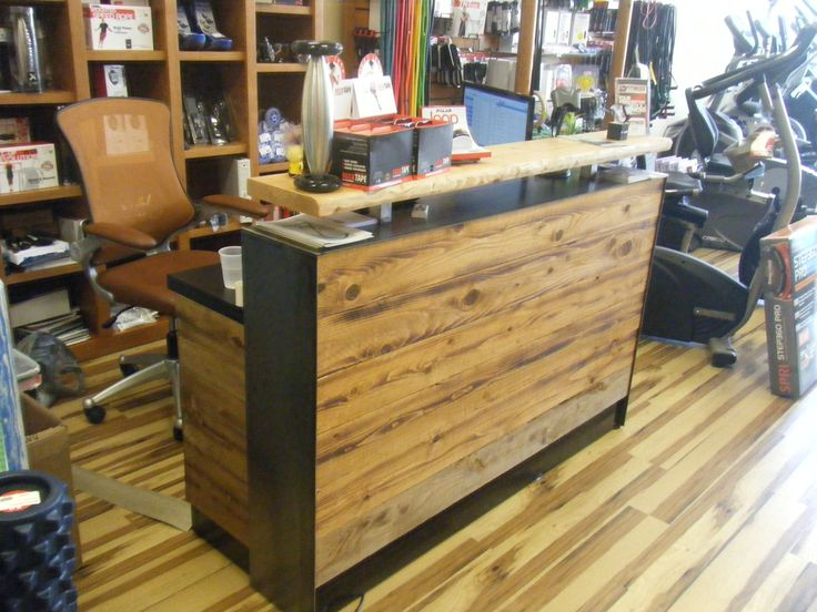 Reception Desks For Offices Custom Counters 4 Reclaimed Distressed Wood Desk Or Sales Counter Interior Design CoursesWood