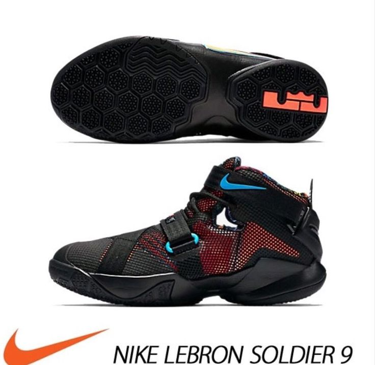 Nike LeBron Soldier 9 776471-084. Basketball shoes Size 7Y GS #NIKE
