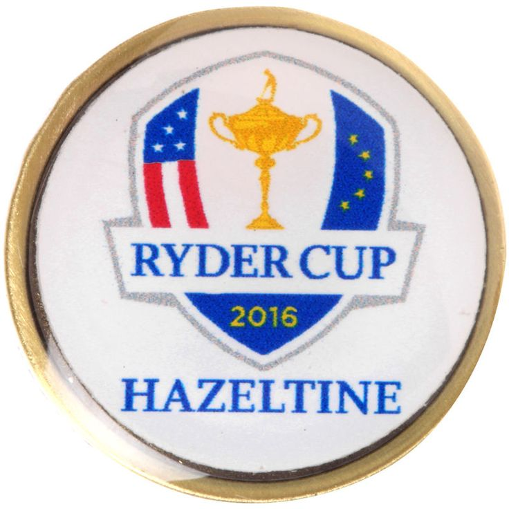 2016 Ryder Cup Round Lapel Pin