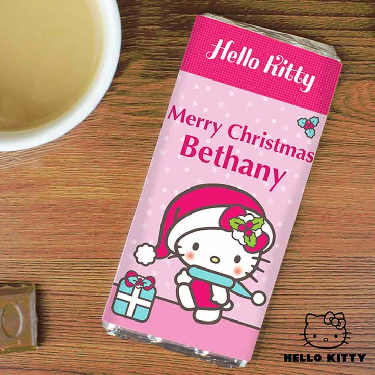 Personalised Hello Kitty Christmas Chocolate Bar