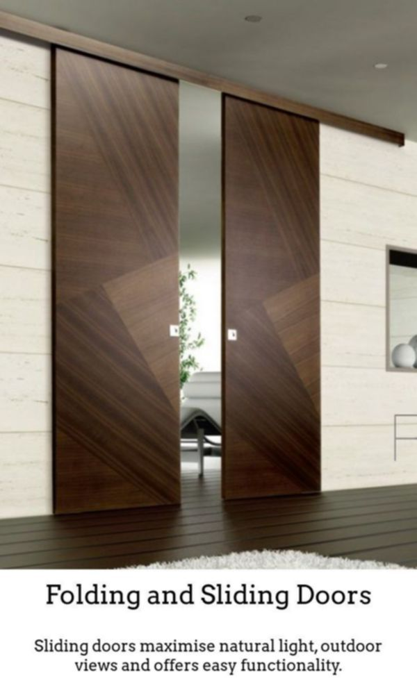 Sliding Doors Build Gorgeous Well Lit Spaces With The Help Of Thermally Insulated Sliding And Foldi Wood Doors Interior Double Door Design Door Design Modern