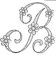 Monograms. Yep it's a B but I'm going to turn the last leg and make an R! Pretty!