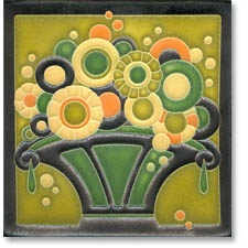 Button Basket from Motawi Tiles.   Unframed at SB Framing Gallery