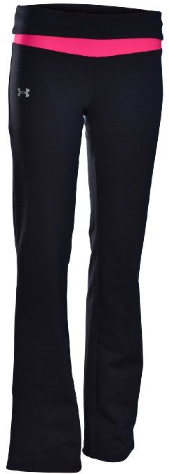 Hot Yoga Pants - Under Armour Women's UA Fitted Yoga Training Pants-Black/Pink