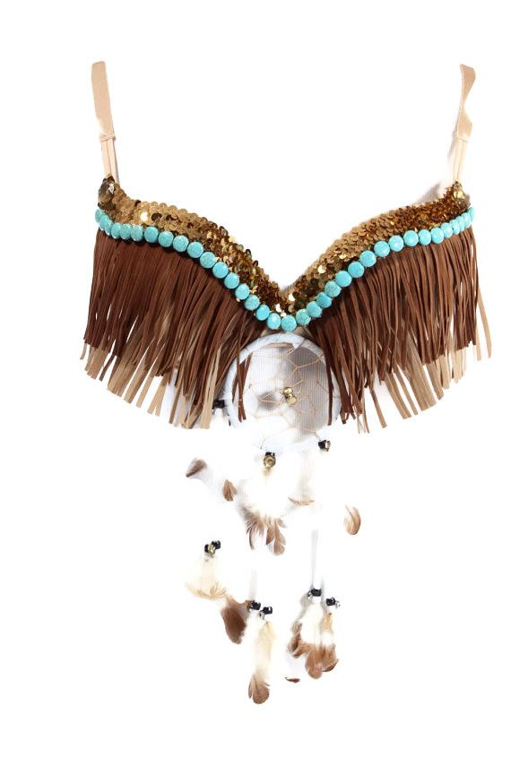 Pocahontas Inspired Rave Bra