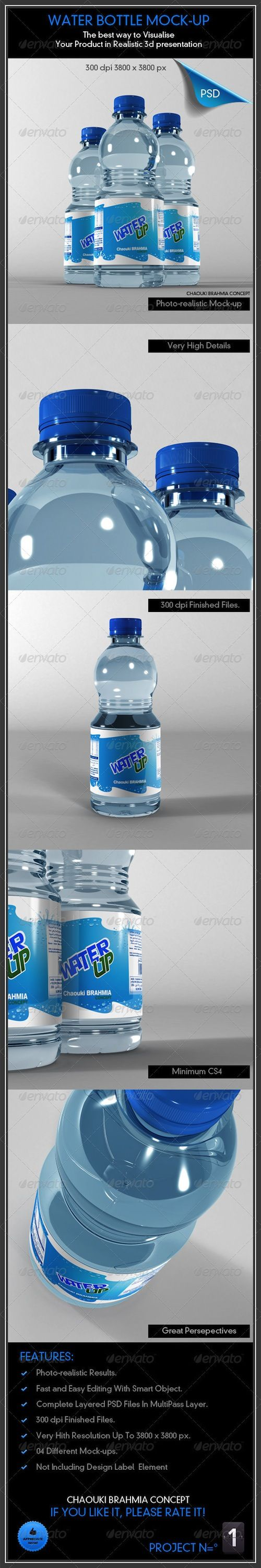 GraphicRiver - Water Bottle Mock-Up
