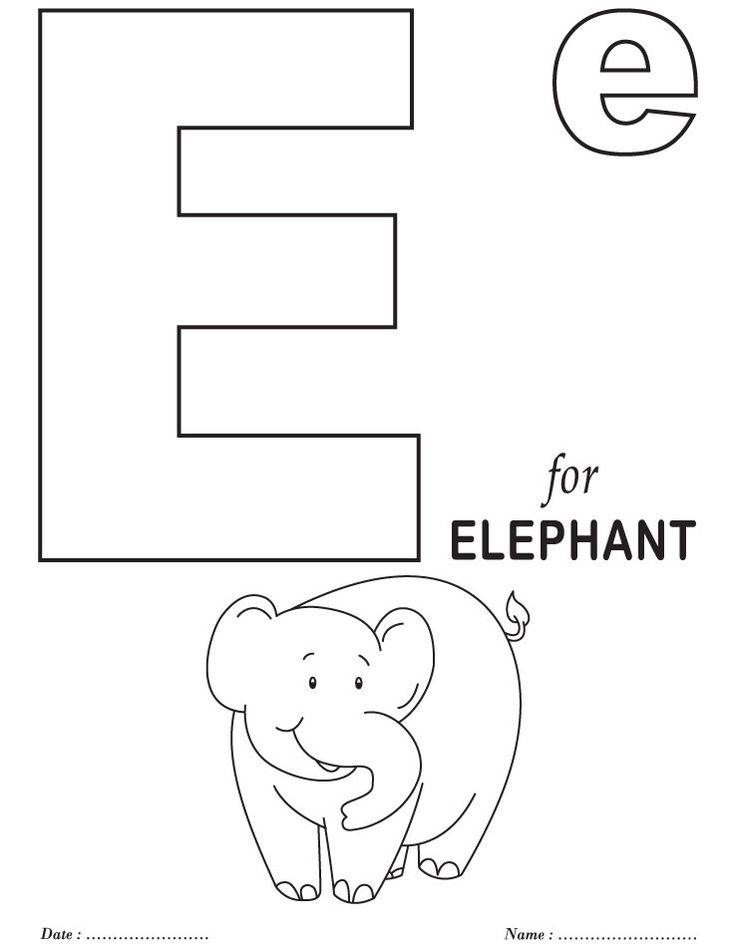 Printables Alphabet E Coloring