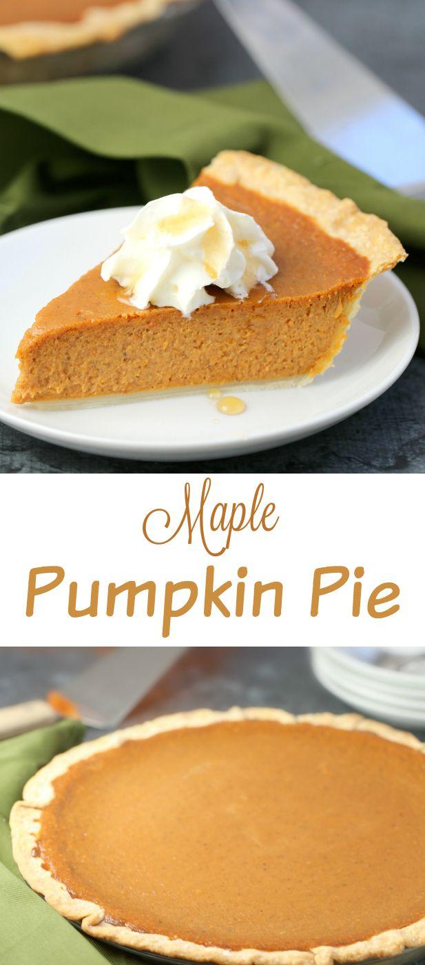 Maple Pumpkin Pie recipe, a Canadian adaptation on carnation's Classic ...
