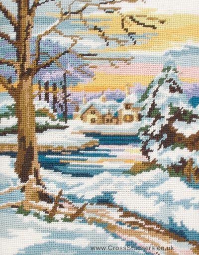 Winter Scene Needlepoint Tapestry Kit by Anchor