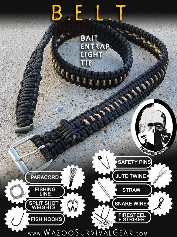Paracord Survival Kit BELT