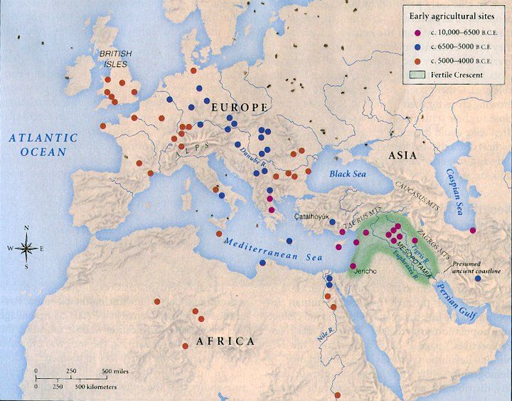 Neolithic Revolution Map 31 best images about W...