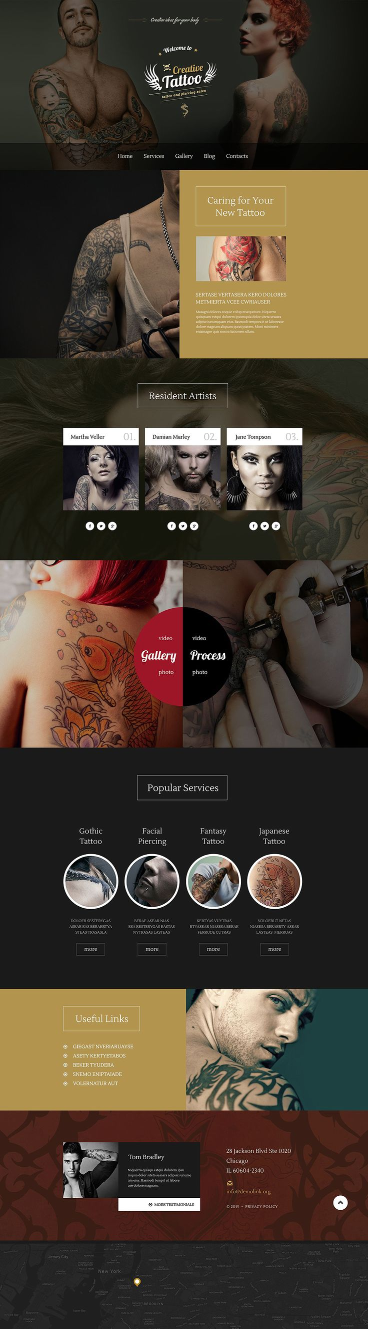 Show off the #art of #tattooing with flair using this image-rich #WordPress theme.