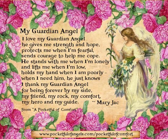 guardian angel poems for friends | My Guardian Angel - The Poem - from 'A Pocketful of Comfort' by Mary ...