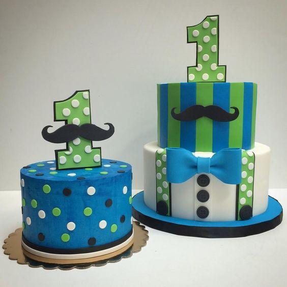 Baby's first birthday cake and smash cake! #deliciousarts #customcakes #birthdaycakes #cakes #mushtache #first #bowtie #polkadots #smashcake #westpico #westla #losangeles #bakery