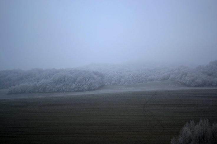 Snowy roads of Hungary