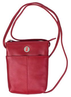 Go Red For Women Leather Cross-Body Purse