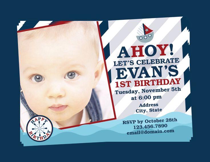 Nautical St Birthday Invitations - Nautical birthday invitation ideas