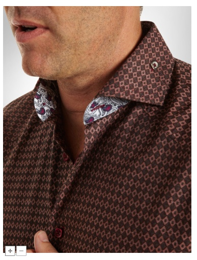 Shirt collar detail + button
