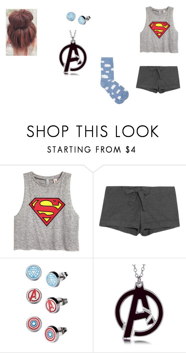 """""""Akira H. Stark outfit 2: pajamas"""" by adreianna-arroyo ❤ liked on Polyvore featuring H&M, Bodas, Marvel and M&Co"""