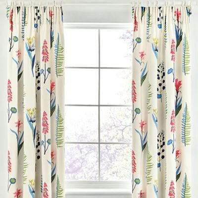 Sanderson Multicoloured cotton sateen 'Floral Bazaar' lined curtains | Debenhams