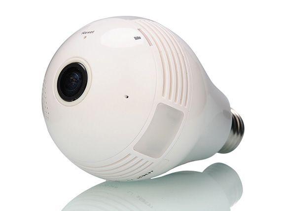 電球のようなフォルムのWi-Fi防犯カメラ
