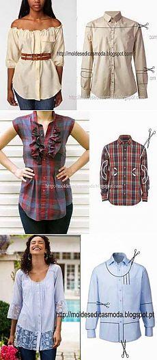 Переделки - что можно сшить из мужской рубашки | Искусница
