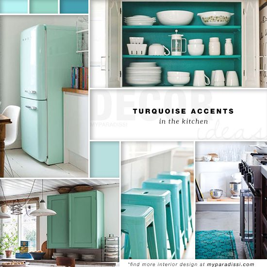9 best home decor blogs images on pinterest maps wall for Kitchen ideas turquoise