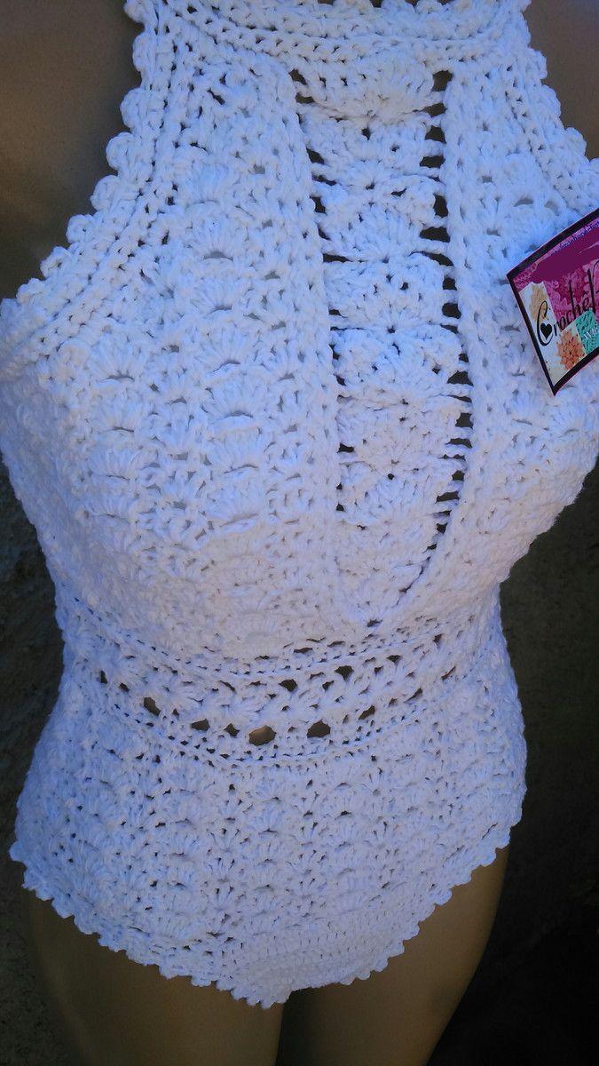 Body/ Maiô de Crochê  Faço nos tamanhos PP 36 P 38-40 M 42  Você pode escolher outra cor, informe a cor e tamanho escolhidos no campo observação no pedido