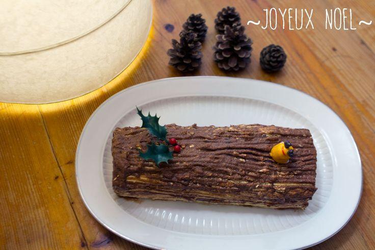 Bûche de Noël traditionnelle roulée – La pâtisserie sans cruauté et sans gluten