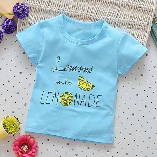 Printed Cartoon Letter T Shirt