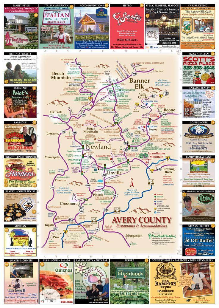 Avery County Restaurants Map - Banner Elk NC • mappery