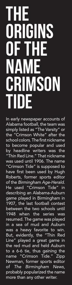 "The Origin of the name ""Crimson Tide"" - 2015 Football  The name of the the love Alabama has been changed three times within the last hundred years. The Crimson tides gets their names for reporters after winning a college championship. The first name they made a popular for Alabama was the thin red linebut was later changed to the Crimson Tide buy another reporter in 1906. After hearing the catching a many people started to call the Alabama school the Crimson tide. Alabama since having the…"