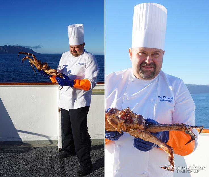King crab Hurtigruten Norway chef Roy Kristensen