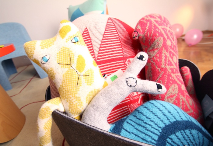Stuffed animal pillows by Donna Wilson