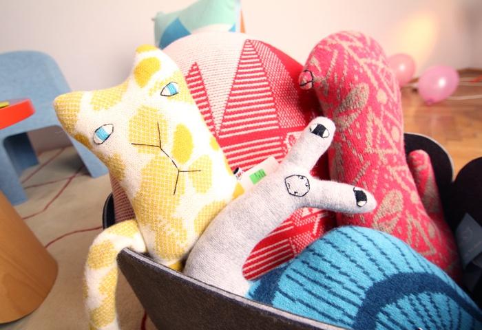 Stuffed animal pillows by Donna Wilson