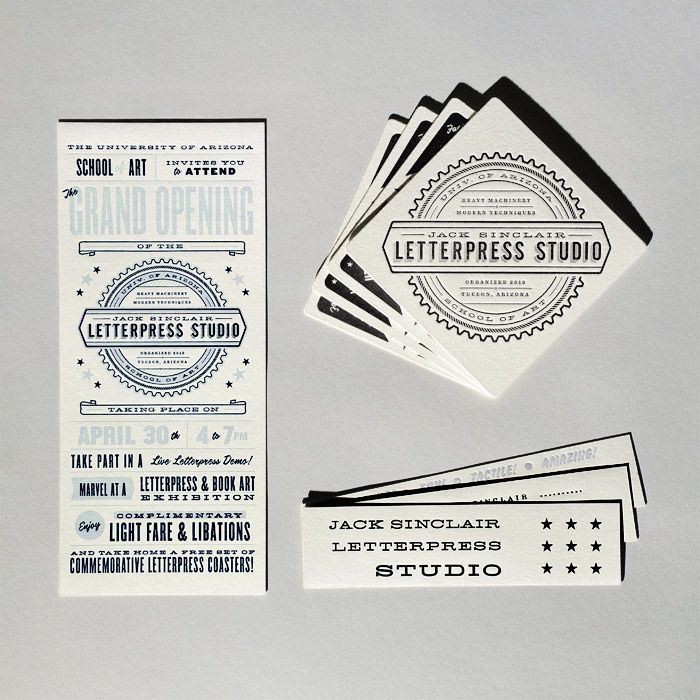 Design: Cast Iron Design - http://www.castirondesign.com: Sinclair Letterpresses, Business Cards, Letterpresses Studios, Design Company, Graphics Design, Graphics Projects, Irons Design, Cast Irons, Design Studios