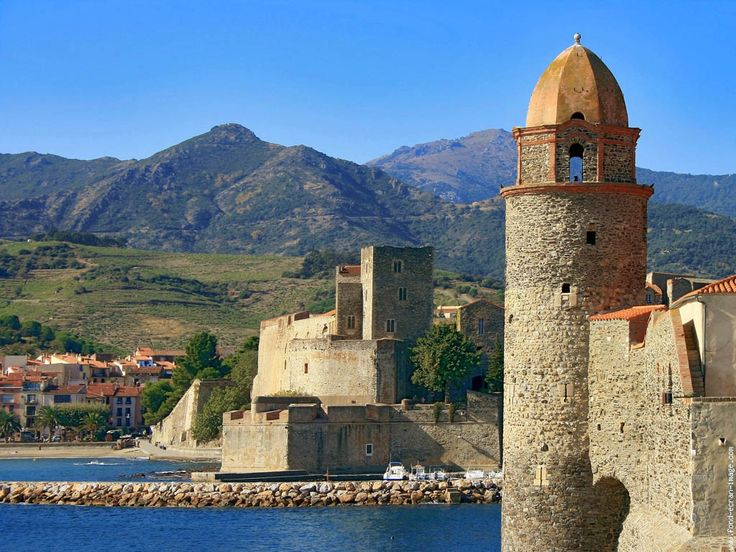 Collioure, France — First stop on our Toulouse-Strasbourg-Paris road trip before moving back to the U.S. in 1984
