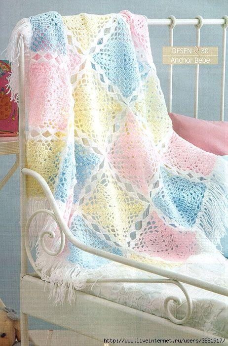 Altri bellissimi modelli di copertine a uncinetto con schemi. Utilissima galleria per chi è in cerca di spunti e idee per le proprie creazioni.