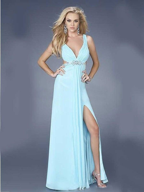 Blue Winter Formal Dresses With Straps Fashion Dresses