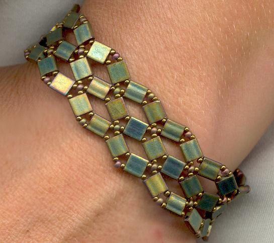 Crossroads Bracelet with TILA Beads by pkleinjewelrydesign on Etsy, $4.99